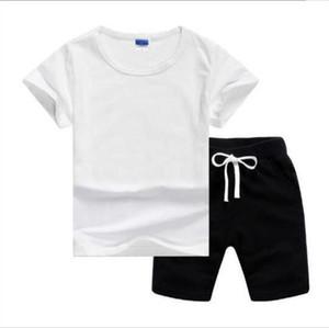ragazzo bambini di moda i bambini T-shirt e pantaloni dei bambini del cotone del bambino degli insiemi delle ragazze dei ragazzi estate vestito del bambino vestito di sport 10Pcs / Set 2-7T