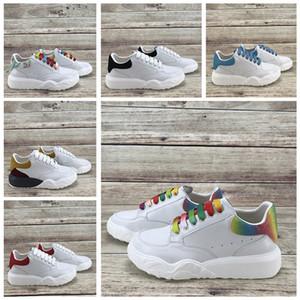 de luxo Lace Up Sapatos de Grife Vestido de Festa Meninas Das Senhoras Das Mulheres Sapatos Branco Veludo Preto Couro Reflexivo Mens Tênis Casuais