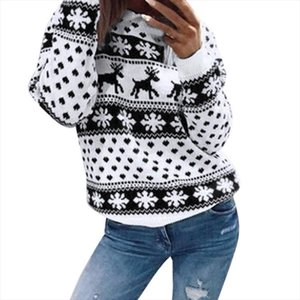 Women Lady Jumper Sweater Pullover Tops Coat Christmas Winter Womens Ladies Warm Brief Sweaters Clothing Drop Shipping