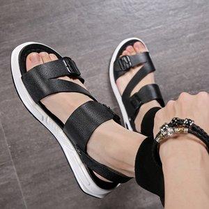 de los hombres de la moda juvenil de moda pantalones apretados sandalias y las sandalias de las polainas nuevos zapatos casuales de verano 1175-A