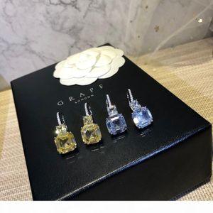 2019 новых женщин серьги богини важно обаятельная elegantat моды Белый бриллиант и желтый бриллиант
