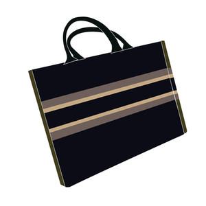 2020 نمط الأعلى حقيبة تسوق حمل حقيبة الأزياء الكلاسيكية الرجال والنساء محفظة قماش حقيبة يد أسود أزرق متعدد الألوان المنسوجة التسوق bagaaa