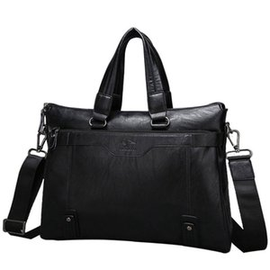 Men's Business Laptop Briefcase Split Leather Handbags for Men Shoulder Messenger Bags Man Office Computer Handbag Crossbody Bag