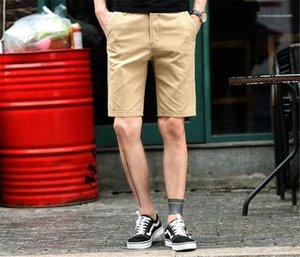 Solid Color Zipper Fly Knee Length Shorts Clothing Loose Shorts Clothes with Pockets Mens Designer Summer Shorts