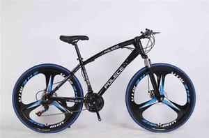 21-hızlı çift diskli fren, yüksek karbonlu çelik çerçeve kayma önleyici süspansiyon bisiklet ile polece Dağ bisikleti 26 inç siyah ve mavi Dağ bisikleti