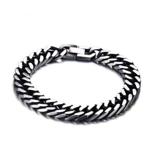 Hip Hop Fashion Stainless Steel Men Bracelet Chain Link Tennis Chain Cubin Link Bar 2020 Body Jewelry Wholesale