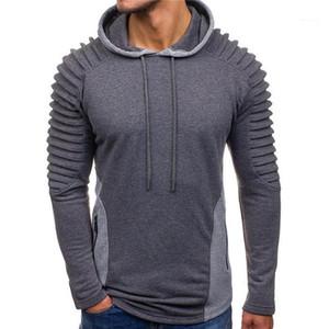 Pullover Zipper Sweatshirt Long Sleeve Fashion Mens Tops Mens Panelled Draped Designer Hoodies Slim