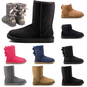 Neue Damenschuhe WGG Winter Schnee Stiefel Frauen Traditionellen australischen Damen-Stiefel Ski Mädchen tragen müssen starke untere und Samt Um KeepWarm