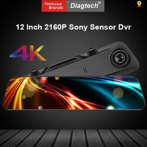 12 Inch 4K Car Dvr Mirror UHD 2160P Dash Camera RearView Mirror Super Night Vision Video Recorder Auto Registrar Hisilicon CPU