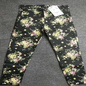 ZXZY Brand Children's Pants Baby Girl Pencil Pants Flower Printed Children's Pants