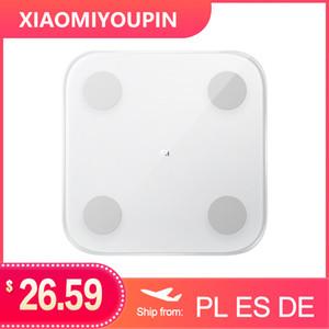 Escala de Composición 2 Grasa Peso báscula de baño pantalla Xiaomi Mi cuerpo Mijia inteligente LED electrónico Análisis digital de datos del balance de APP