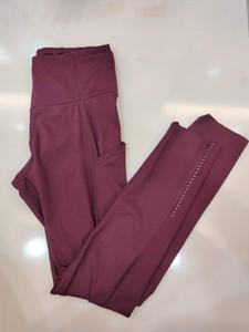 20 cor sólida Mulheres calças de yoga cintura alta Gym Sports Wear Leggings Elastic aptidão Senhora geral completa calças justas Workout