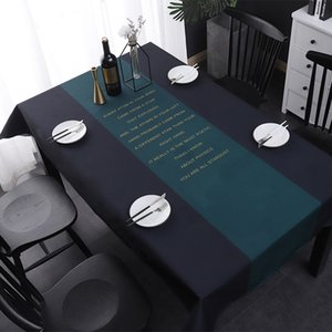 Luxury Waterproof tablecloth Decorative Linen digital printing Rectangular Wedding Dining Table Cover Table Cloth