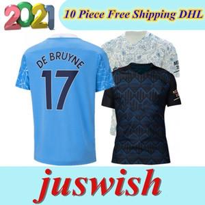 20 Jersey di calcio 2020 2021 camicia dell'uomo STERLING di calcio Manchester KUN AGUERO De Bruyne GESUS BERNARDO Mahrez RODRIGO Uomi bambini kit di 21 città