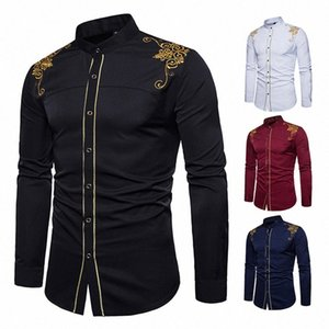 Men's Shirt for African Dresses Fashion Men 2019 Clothes Long Sleeve Bazin Embroidered 4Color Autumn Traditional Africa Dress GDHz#