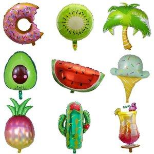 1pc Flamingo Kaktus Kokosnusspalme Folienballons Geburtstag Hochzeitsdeko Thema Sommer-Party-Dekoration Hawaii-Strand-Ballons