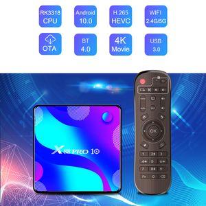 X88 PRO 10 Android 10.0 TV Box RK3318 2.4G 5G wifi Bluetooth Set Top Box 2GB 16GB VS H96 TX3 MINI