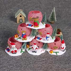 Yeni Noel Mum Noel ağacı kil mum standı dekore 3d kil Noel bebek süslemeleri