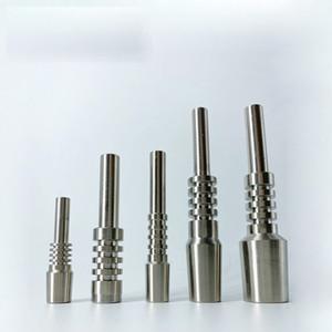 10mm 14mm 18mm Titanyum İpucu için Nector Kollektör Setleri Grade2 Titanyum İpuçları Çiviler Nektar Toplayıcı Bal Straw İçin Cam Suyu Boru Dab Donanımları