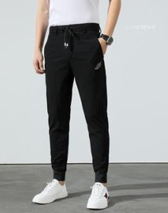 Embroidery Casual Male Clothing Mens Designer Sport Pants Teenager Slim Solid Colors Pocket Pencil Pants Leaf