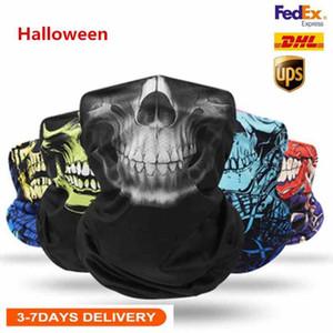 Navio dos EUA Unisex adultos enfrentam Halloween Máscara Máscaras Scarf Headband mágicas para Ski Motorcycle Magia Turban Bandan Outdoor Sports FY6096