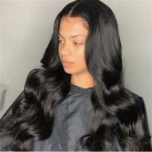 Yeni 150 Yoğunluk Vücut Dalga Tam Dantel İnsan Saç Peruk 360 Dantel Frontal İnsan Saç Peruk 360 Dantel Frontal Peruk İçin Siyah Kadınlar