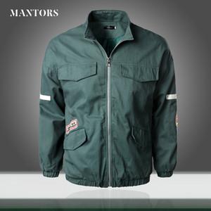Мужчины Bomber Jacket Свободный Свободный бейсбольные куртки 2020 осень Новый Мужской Ветровка Zipper письмо Печать Outwear пальто Multi-карман