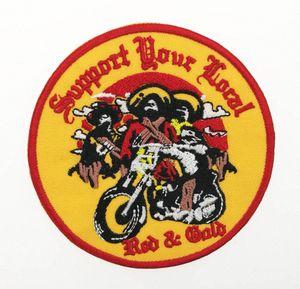 최고 품질 골짜기에는 산적 지원 재킷 무료 배송 iXnS 번호 현지 자수 패치 상세 패치 레드 클럽 MC 자전거 MOTOCYCLE