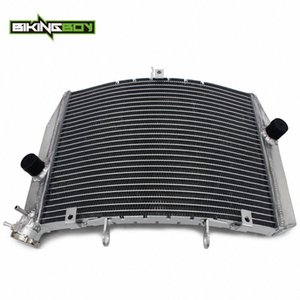 BIKINGBOY Per ZX6R / ABS 2013 2014 2015 2016 2017 2018 13 14 15 16 17 18 in alluminio del motore di raffreddamento ad acqua di raffreddamento del radiatore 47lb #
