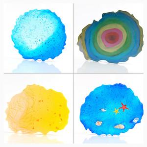 Bandeja Copa de silicona del molde del molde la resina de epoxy de Big Wave irregular Coaster en forma de joyería que hace el arte de la categoría alimenticia de bricolaje Moldes IIA567