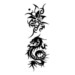 50Pcs Trendy Temporary Tattoo for Man and Woman Tattoo Waterproof Makeup Flower Stickers Dragon Tattoo Body Art