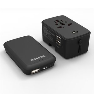 Universal travel adapter plug with USB power adapter with charging function