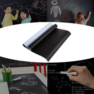 BlackboardChalkboard 200*60CM Self-Adhesive Blackboard Wall Sticker Waterproof Removable Reusable Black Board Poster with 5 Colo