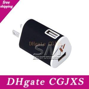 2 .1a Dual USB Led carregador de parede completa 5v 1a viagem adaptador plug EUA Ac Power Adapter 2 Port
