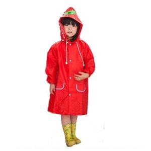 HAPPYFUN animal de la historieta estilo reflexivo de engranajes tira de lluvia gearcoat ropa de lluvia del poncho de los niños de espesor con banda reflectante