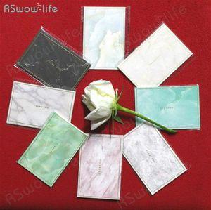 35pcs Mini Marbled Gold Mini timbratura carta semplice creativo Greeting Card Nozze Compleanno Auguri di Natale # u2n2