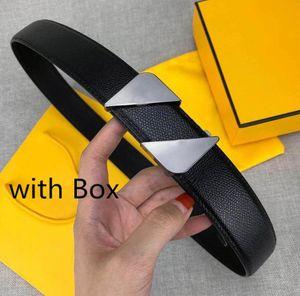 Nuovo modo cinghie designer caldi di vendita cinghie delle donne casuali Mens Belt con fibbia liscia novità Larghezza della cinghia 34 millimetri di alta qualità con la scatola