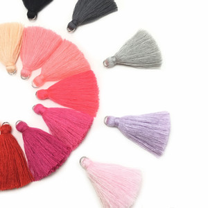 Quality L106 5cm tassel jewelry findings components Cotton tassels accessories parts hand made making jewelry 10pcs bag