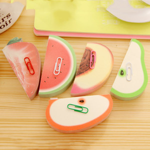 Fruit Shape Notes Paper Creative Cute Apple Lemon Pear Notes Strawberry Memo Pad Sticky Paper Pop Up Notes School Office Supply BH1436 BC
