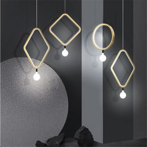 Modern Hanging Pendant Light for Kitchen Bar bedside suspension Avize Lustre LED Pendant Lamp for Dining room Office Kitchens
