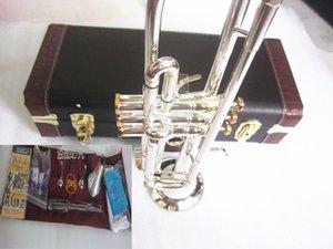 Hot Vendre Bach LT180S-37 trompette B plates Argenté professionnelle Trompette Instruments de musique avec Belle Livraison gratuite Case