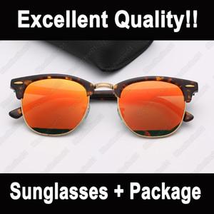 kadın güneş gözlüğü moda erkek deri çanta perakende paketi ile uv koruma camı lensler sürüş popüler güneş gözlüğü güneş gözlüğü