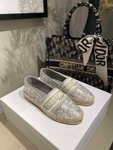 2020 New Luxury Obliques Designer Femmes Granville Espadrilles Mode Plateforme Femmes Chaussures Fisherman Oblique Espadrilles couleurs multiples