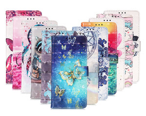 3D Bling Cartoon Wallet Flower Unicorn OWL Skull Stand Leather Case for iphone 12 6.7 5.4 6.1inch Samsung NOTE20 Ultra A21 A21S