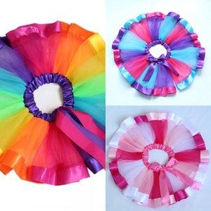 qxLCk Pengpeng Netz erwachsenen halblangen Tanz-Performance Rainbow Rainbow Fluffy flauschigen Pengpeng Tutu Gazerock