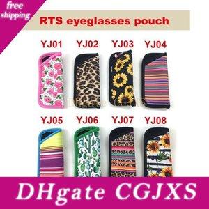 Style leopard lx2173 RTS Rainbow Factory Print Neopren Eye Push Mermaid Brillen Sonnenblumenbeutel Großhandel 8 mqjnd