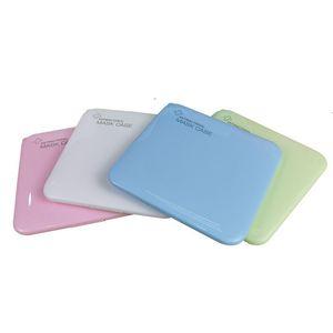 البلاستيك قناع الوجه صندوق تخزين الغبار المعطي الألوان منظم حالة ساحة إفراغ التنفس حاويات قابلة للطي مضاد للبكتيريا 8 5cb C2