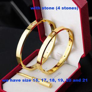 2020 Rose Gold 316L de aço inoxidável pulseira pulseira com chave de fenda e parafusos de pedra com caixa frete grátis