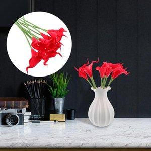 Ev Partisi 10pcs Simüle Calla Lily Dekor Zarif Şık Sahte Çiçek Dekor Çiçek süsleme Süsleme