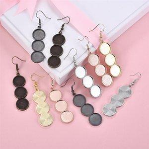 10pcs set DIY Earrings Base Handmade Dangle Earrings Glass Cabochons For Jewelry Making Accessories Finding